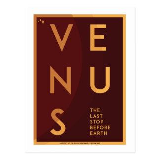 Postal del viaje espacial - Venus