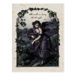 "Postal del Victorian de la belleza de Byron ""ella"