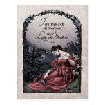 """Postal del Victorian de Tennyson """"señora de"""