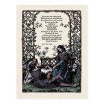 """Postal del Victorian del """"amor"""" de Coleridge"""