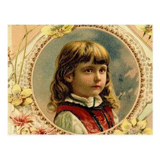 Postal del victorian del chica de Pascua