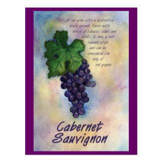 Postal del vino de Cabernet-Sauvignon