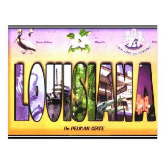 Postal del vintage de Luisiana