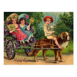 Postal del vintage de Pascua del desfile del