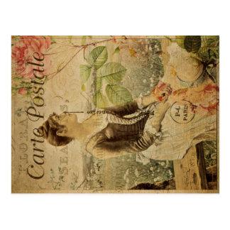 Postal del vintage de Postale de la carta