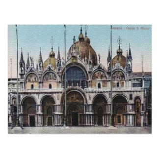 Postal del vintage de Venezia Chiesa San Marco