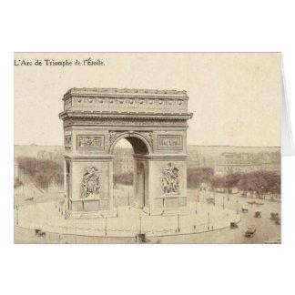 Postal del vintage del Arco del Triunfo de l'Etoil
