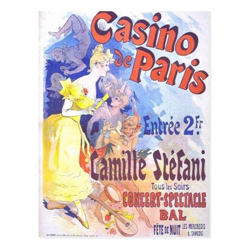 Postal del vintage del de París del casino