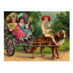 Postal del vintage del desfile de los niños del