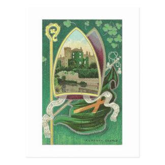 Postal del vintage del día de San Patricio