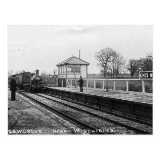 Postal del vintage del ferrocarril Worthy de rey