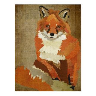 Postal del vintage del Fox rojo