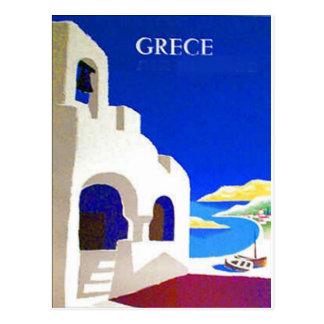 postal del vintage del grece