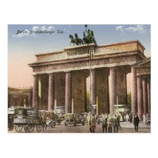 Postal del vintage del Tor Berlín de Brandenburger