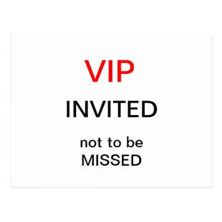 Postal del VIP