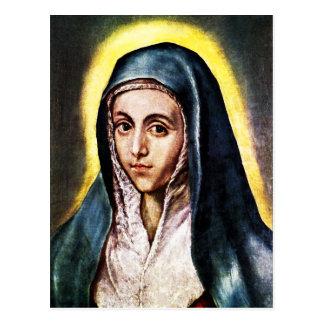 Postal del Virgen María de El Greco