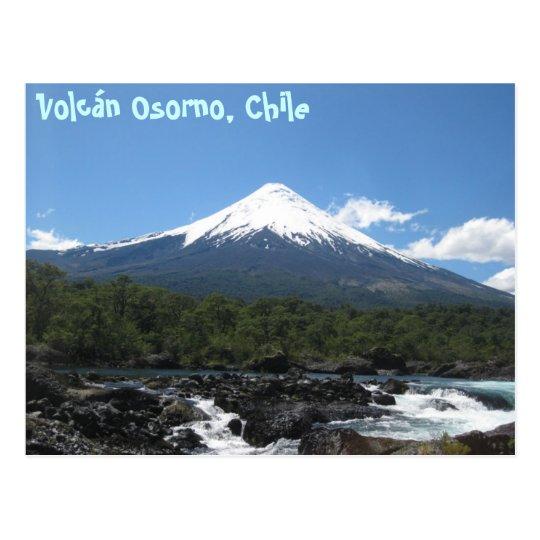 Postal del volcán de Osorno