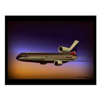 Postal del vuelo de la oscuridad de L-1011 Tristar