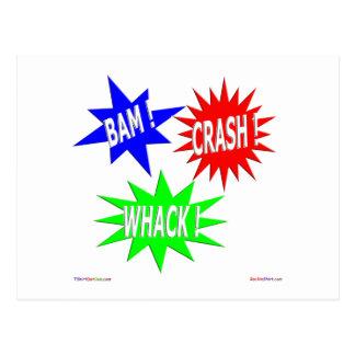 Postal del Whack del desplome del Bam