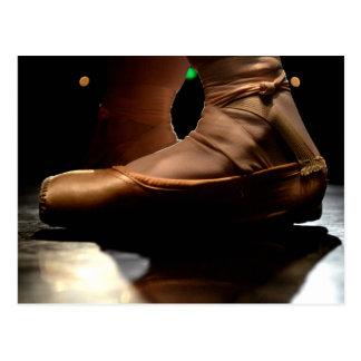 Postal del zapato de Pointe del ballet