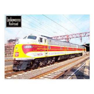 Postal Delaware Lackawanna y locomotora occidental 808