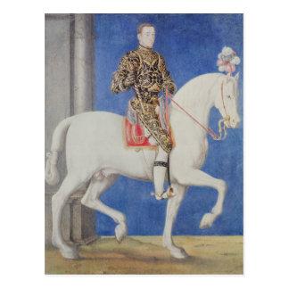 Postal Delfín ecuestre Enrique del retrato II