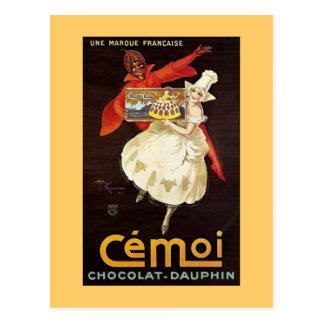 Postal Delfín Girls1924 francés de Chocolat