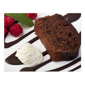 Postal deliciosa de la torta de chocolate