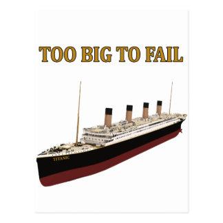 Postal Demasiado grande titánico a fallar