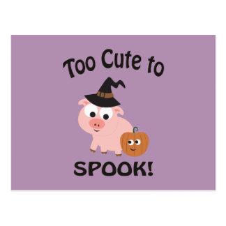 Postal Demasiado lindo Spook el cerdo
