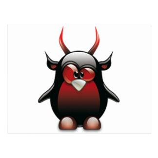 Postal Demonio Tux (Linux Tux)