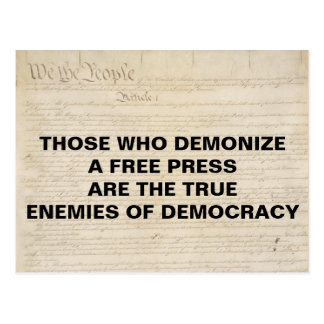 Postal Demonize al enemigo de la prensa de la Primera