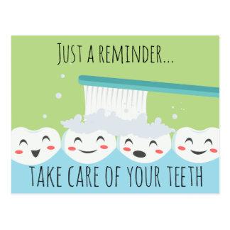Postal dental del recordatorio de Apointment