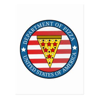 Postal Departamento de pizza