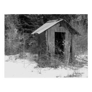 Postal Dependencia abandonada (postal de B&W)
