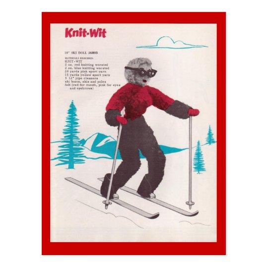 Postal Deportes de invierno del vintage, Punto-ingenio
