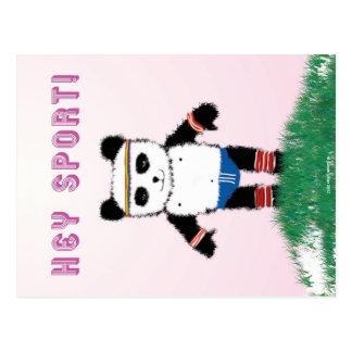 Postal deportiva de la panda