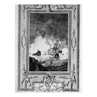 Postal Derrota de la Armada Invencible