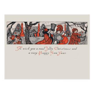 Postal Deseo alegre del Año Nuevo del navidad del