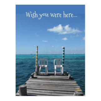 Postal Deseo usted estaba aquí…