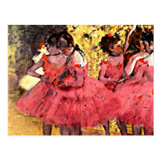 Postal Desgasifique - a los bailarines rosados