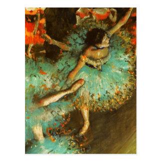 Postal Desgasifique al impresionista verde del ballet del