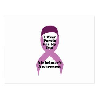Postal Desgaste de la conciencia de Alzheimers para mi