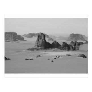 Postal Desierto de B&W Argelia