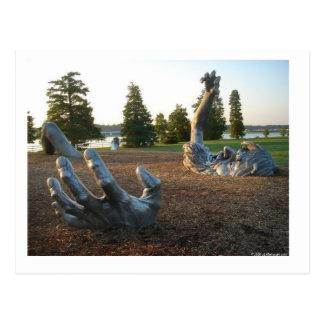 Postal Despertar la escultura en Washington, C.C.