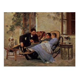 Postal Después de cena, 1888