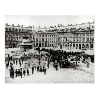 Postal Destrucción de la columna de Vendome