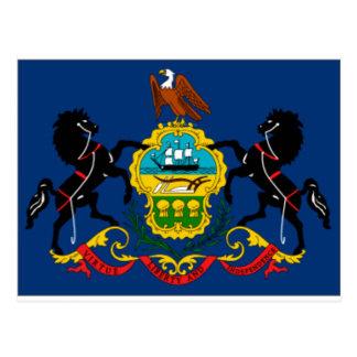 Postal Detalle de la bandera del estado de Pennsylvania