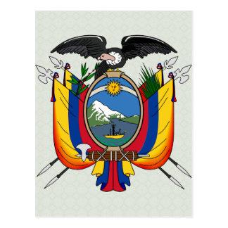 Postal Detalle del escudo de armas de Ecuador