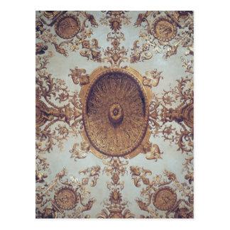 Postal Detalle del techo en el salón magnífico